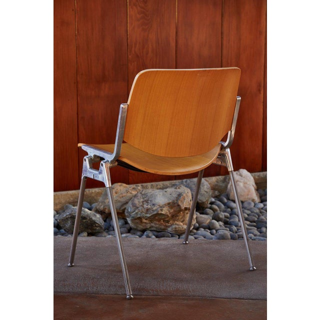 1960s 1960s Vintage Giancarlo Piretti for Castelli Stackable Chairs- Set of 6 For Sale - Image 5 of 9