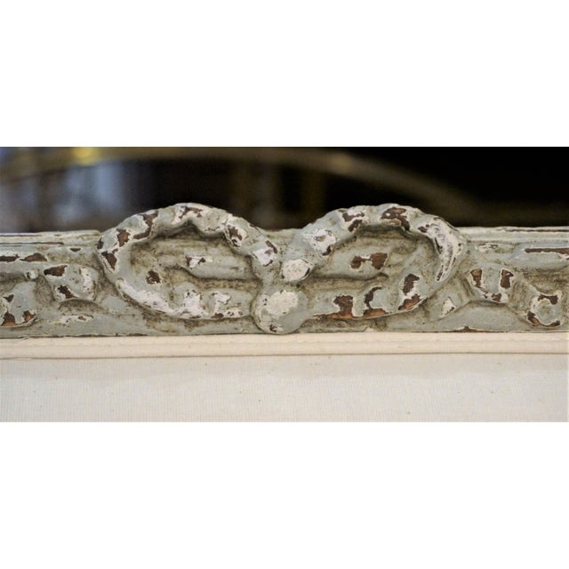 Pair of Marquis 19th C Louis XVI Bergeres For Sale In New Orleans - Image 6 of 12