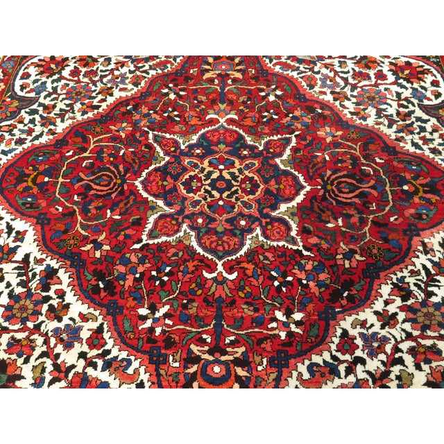 Red Vintage Hamadan Style Rug- 8′7″ × 12′2″ For Sale - Image 8 of 11