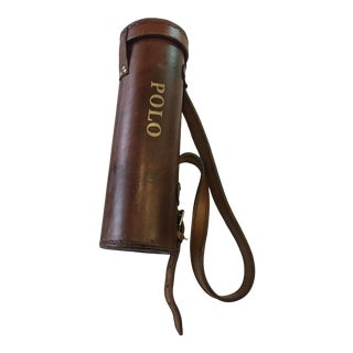 Leather Polo Balls with Carrying Bag Equestrian Decor - 5 Pieces For Sale