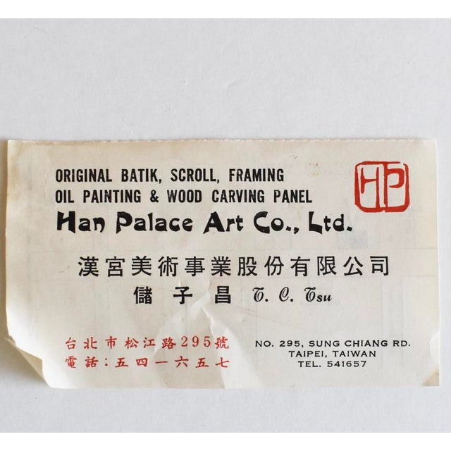Original Asian Wood Panel Paintings - a Pair For Sale - Image 6 of 7
