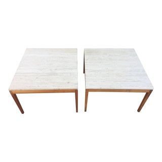 1960s Mid-Century Modern Marble Side Tables - a Pair For Sale