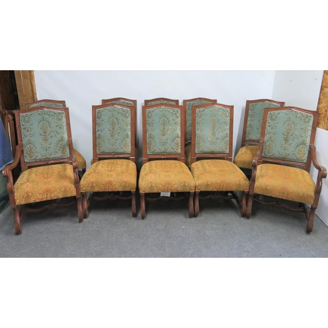 Rococo Style Italmond Furniture Co Dining Chairs - Set of 10 For Sale - Image 12 of 12