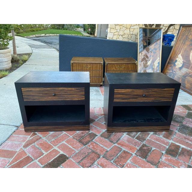 Black 1990s Ldc Design Studio Side Tables-Zebra Wood For Sale - Image 8 of 8