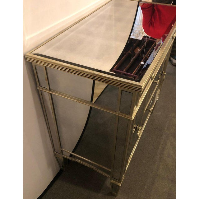 Mirrored Hollywood Regency Style Large Nightstand or Commode For Sale - Image 9 of 11