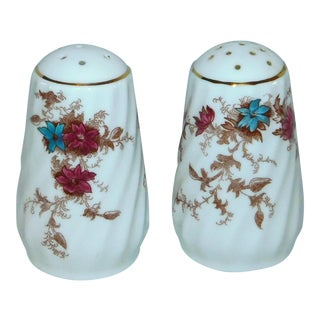 """Mid 20th Century Minton """"Ancestral"""" Salt & Pepper Shakers - a Pair For Sale"""