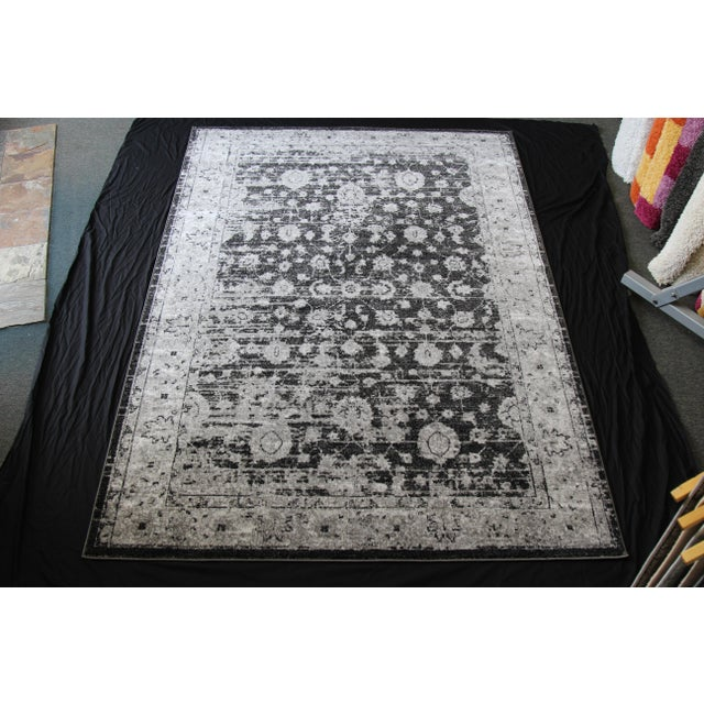 "Distressed Vintage Gray Rug - 4' x 5'8"" - Image 2 of 7"