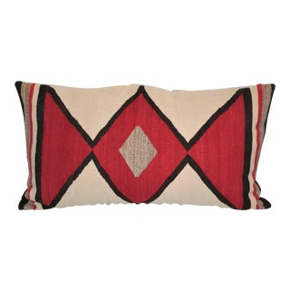 Early Geometric Navajo Weaving Bolster Pillow For Sale