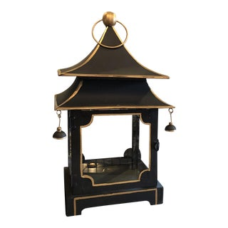 Chinoiserie Style Metal Pagoda Lantern For Sale
