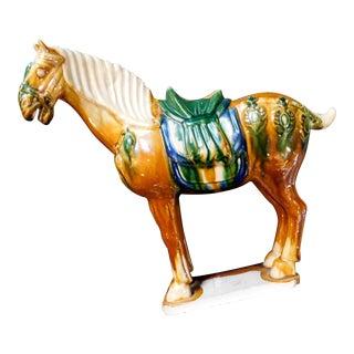 1970s Cheval Ceramic Horse Figurine For Sale