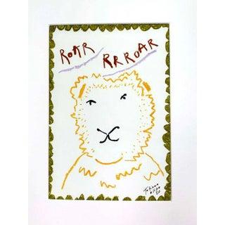 """Lion Roaaar"" Contemporary A4 Giclée Print For Sale"