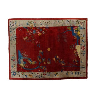 """Leon Banilivi Antique Chinese Carpet - 9'3"""" X 12'"""