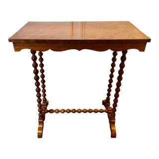 1960s Vintage Spindle Leg Side Table