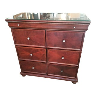 Bombay Company Cherry Finish Wooden Chest of Drawers