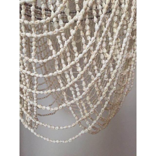 Shell Beaded Shell Chandelier Lantern For Sale - Image 7 of 7