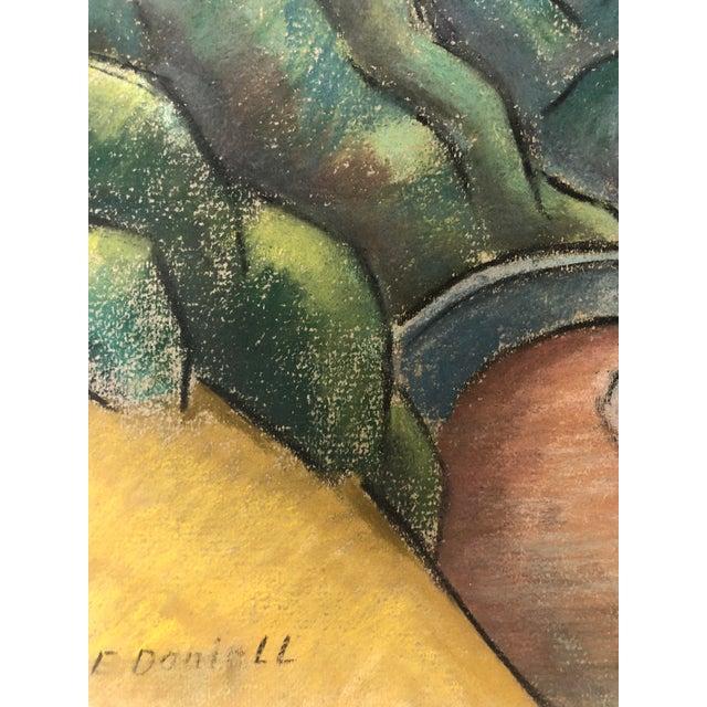 """Federal 1930s Signed Chalk California Landscape """"Larkspur"""" For Sale - Image 3 of 8"""