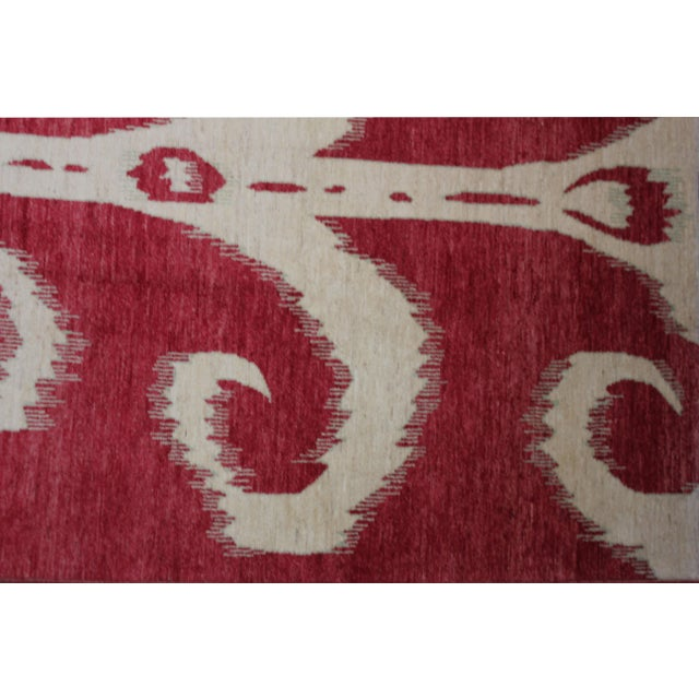 "Hand Knotted Ikat Rug - 14'2"" X 10'1"" For Sale - Image 4 of 4"