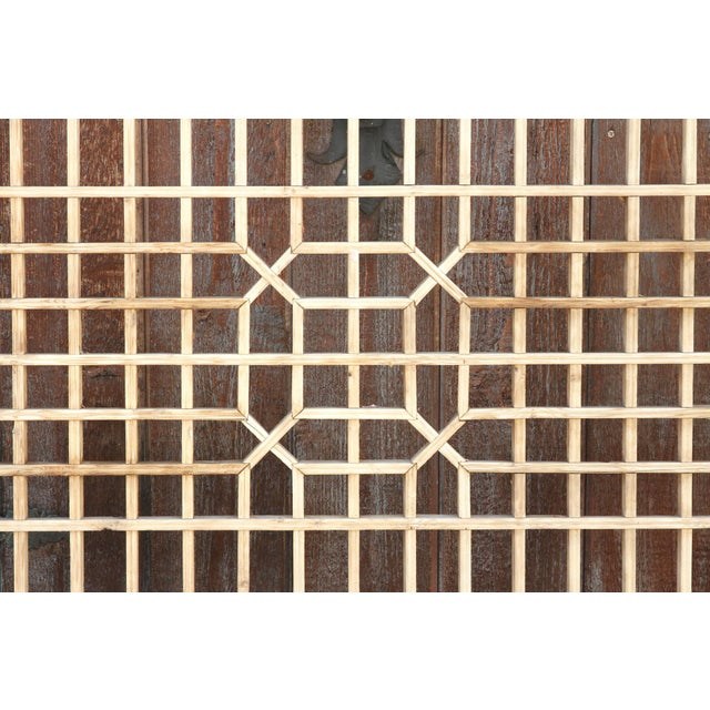 Early 20th Century Geometric Lattice Window Panel For Sale - Image 4 of 10