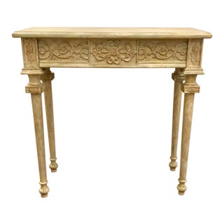 French Style Painted Console Table For Sale