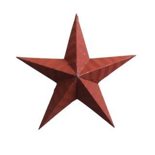 Vintage Red Metal Star For Sale