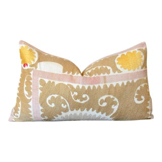 Silviya Suzani Lumbar Pillow For Sale