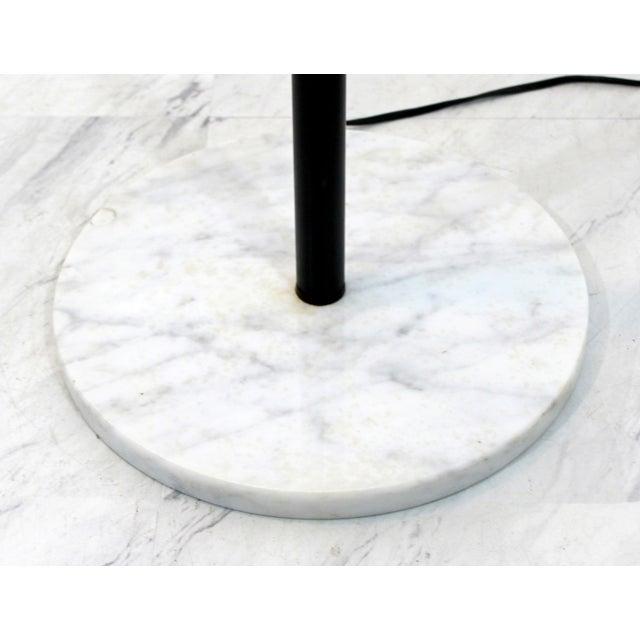 Chrome Mid Century Modern Robert Sonneman Chrome & White Marble 3 Arm Floor Lamp 1970s For Sale - Image 7 of 9