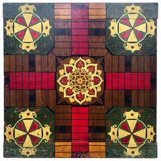 Five Colors Original Paint Parcheesi Board For Sale