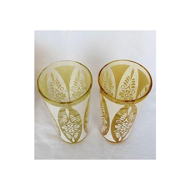 1960s Golden Amber Tumblers - Set of Six - Image 4 of 5