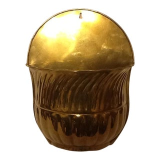 Mid-Century Brass Wall Planter For Sale