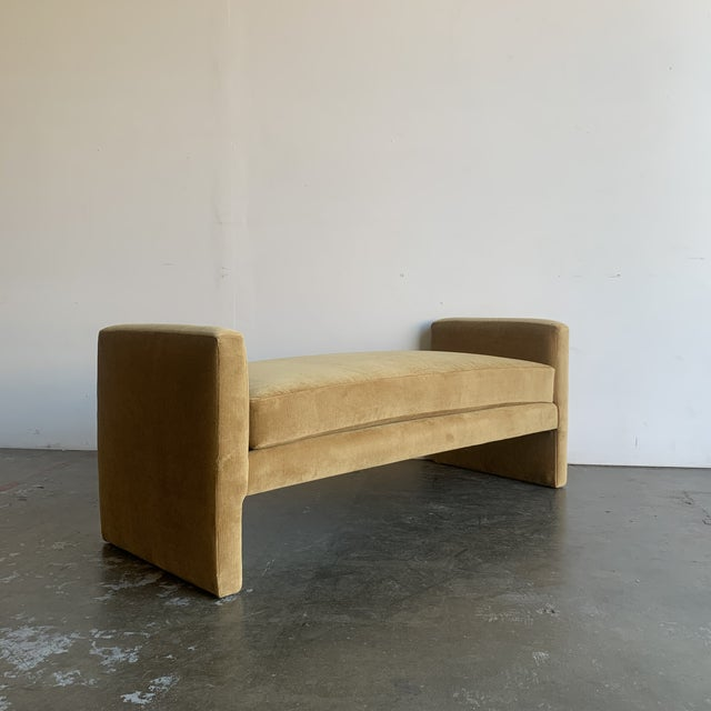 1980s Post Modern Bench- Mustard For Sale - Image 5 of 13