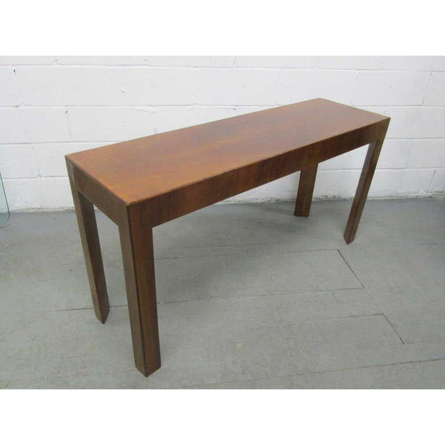1940s Italian Walnut Console Table For Sale - Image 5 of 5