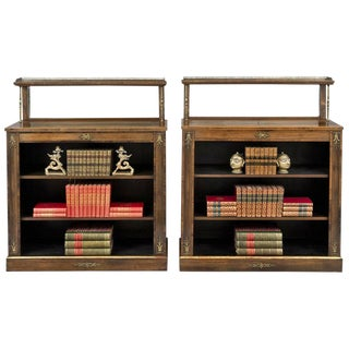 English Pair of Regency Period Rosewood Bookcases, circa 1820 For Sale