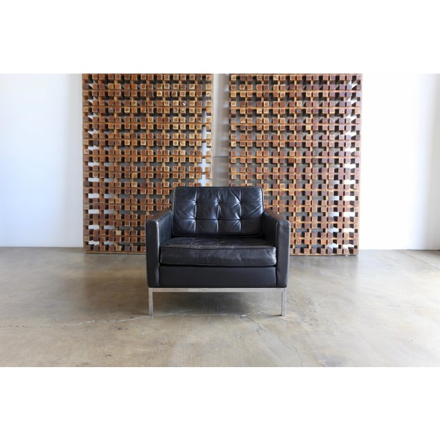 Mid-Century Modern Mid Century Florence Knoll Leather Lounge Chairs - a Pair For Sale - Image 3 of 11