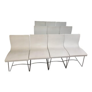 Ligne Roset Sala Dining Chairs With Chromed Sleigh Feet - Set of 10 For Sale