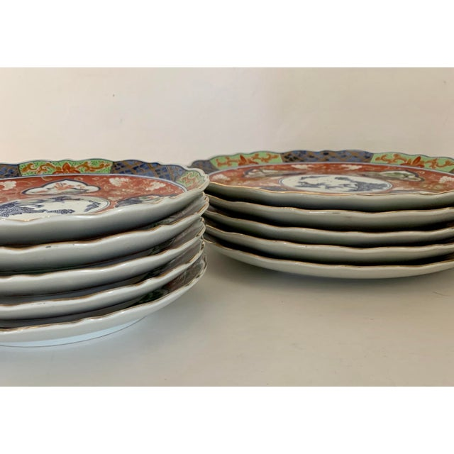 Blue Vintage Imari Takahashi Dishes - Set of 10 For Sale - Image 8 of 10