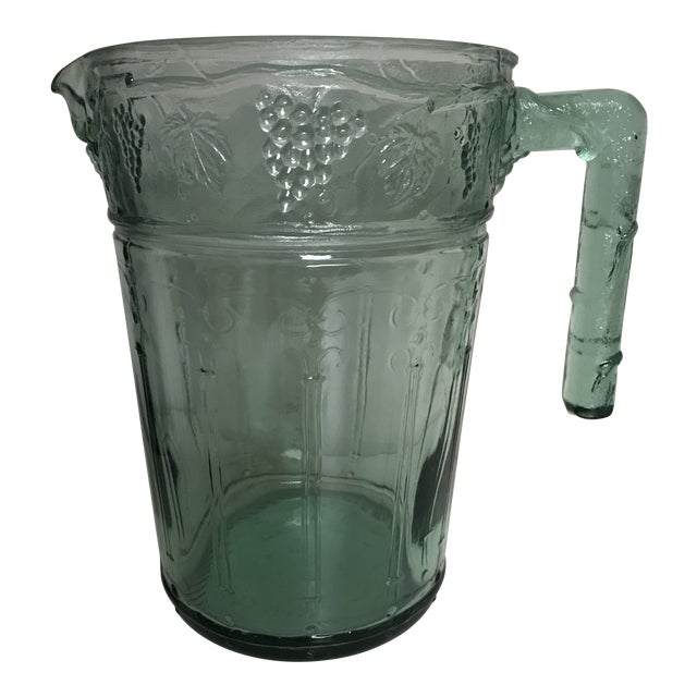 crackle glass water pitcher