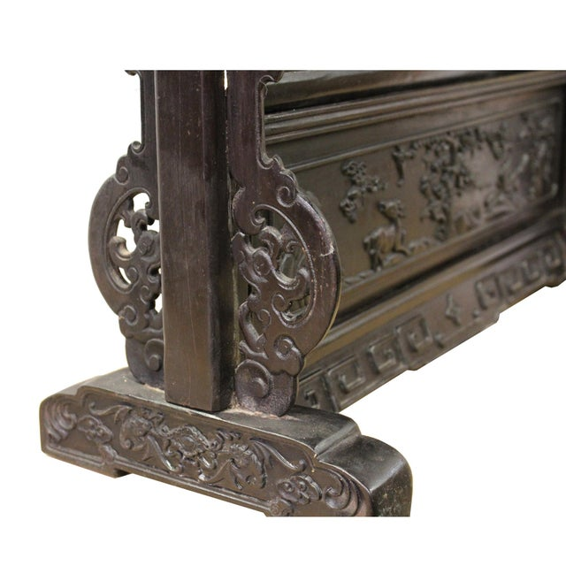 2010s Chinese Dream Stone Fengshui Rectangular Table Top Display Art For Sale - Image 5 of 10