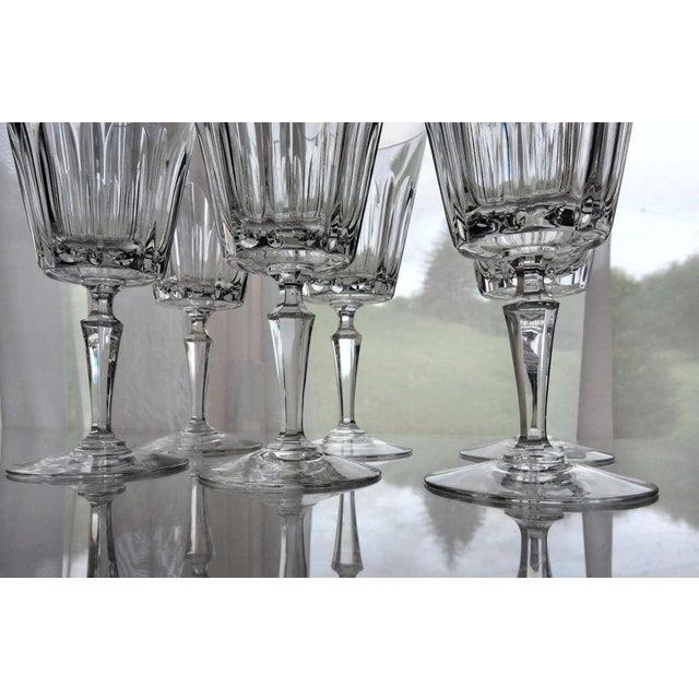 1960s 1960s Vintage Val St Lambert Cut Crystal Wine Glasses - Set of 6 For  Sale