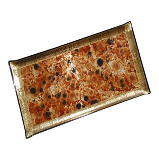 Enzo Angiolini Collection Marbleized Lucite Tray Designed by Georges Briard For Sale