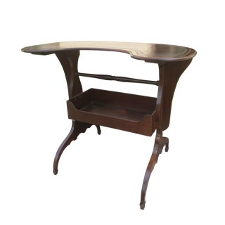 19th Century French Kidney Shape Leather Top Writing Table For Sale