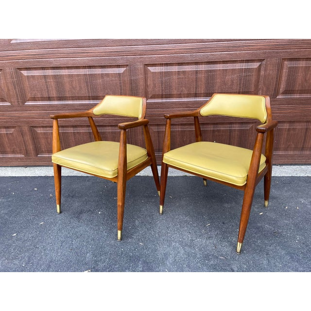 Mid 20th Century Walnut Jasper Armchairs - a Pair For Sale - Image 4 of 10