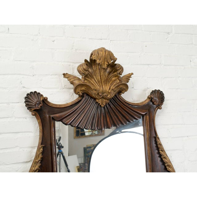 Rococo Antique Italian Giltwood Rococo Mirror For Sale - Image 3 of 9