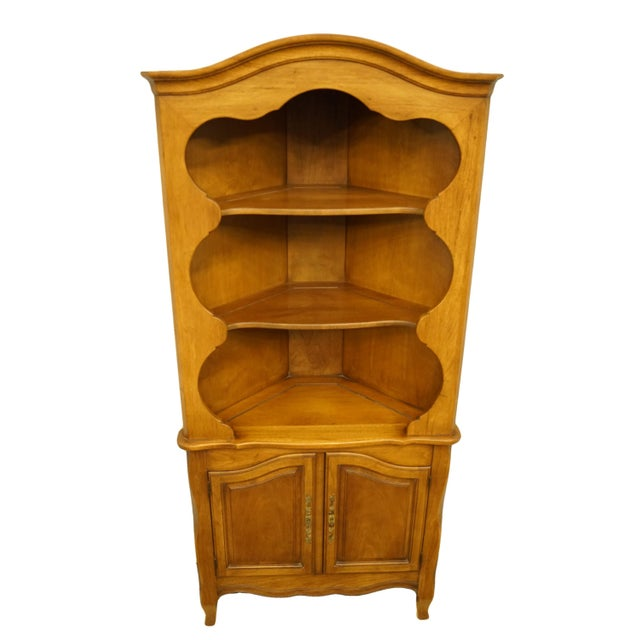 Late 20th Century 20th Century French Country Drexel Heritage Solid Maple Corner Cabinet For Sale - Image 5 of 8