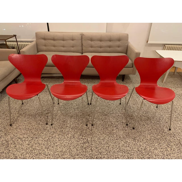 Ash Series 7™ Chairs by Arne Jacobsen for Fritz Hansen - Set of 4 For Sale - Image 7 of 7