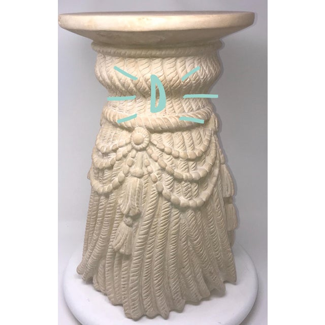Tan Late 20th Century Hollywood Regency Tassel Fringe Rope Side Tables- Set of 4 For Sale - Image 8 of 10