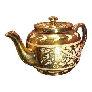 Sadler Gold Teapot For Sale