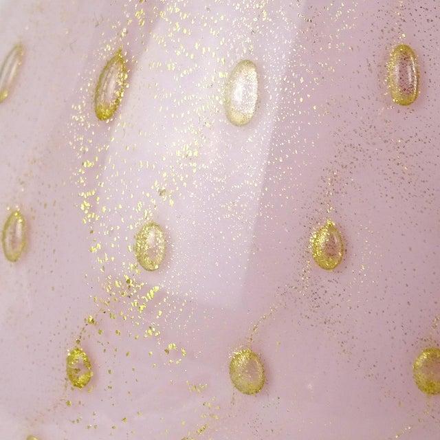 Mid 20th Century Vintage Alfredo Barbini Murano Pink Gold Flecks Italian Art Glass Mid Century Vanity Bottles - Set of 3 For Sale - Image 5 of 7