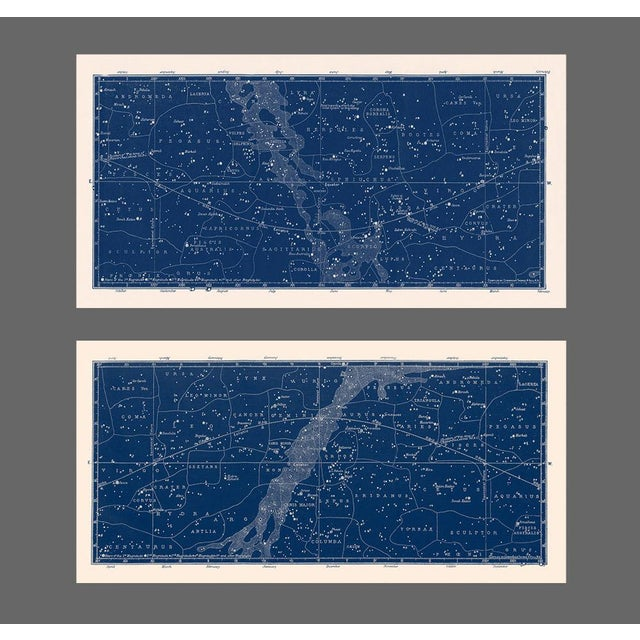 Nautical Constellation Map Prints - A Pair For Sale - Image 4 of 4