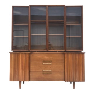 Mid-Century Sideboard With China Cabinet For Sale