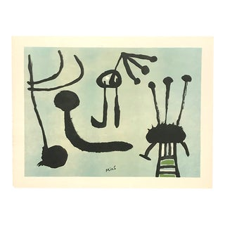 Original Authentic Vintage Mid-Century Modern Joan Miro Lithograph For Sale